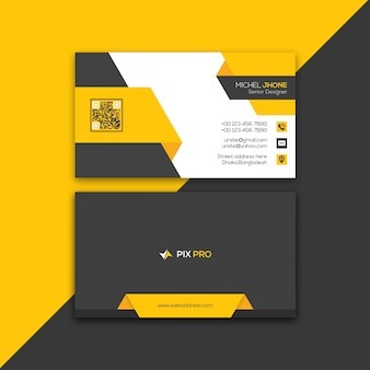 Plantilla de tarjeta de visita personal