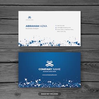 Plantilla de tarjeta de visita profesional azul moderna