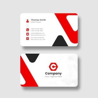 Plantilla de tarjeta de visita profesional moderna y limpia