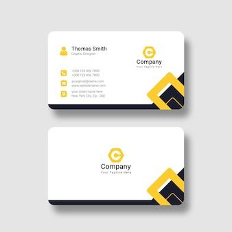 Plantilla de tarjeta de visita profesional moderna