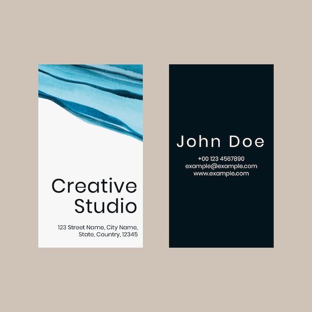 Plantilla de tarjeta de visita psd ombre acuarela para artistas creativos