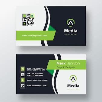 Plantilla de tarjeta de visita psd simple