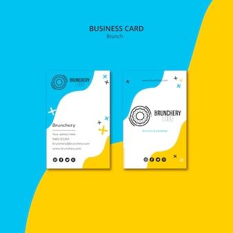 Plantilla de tarjeta de visita de restaurante de brunch