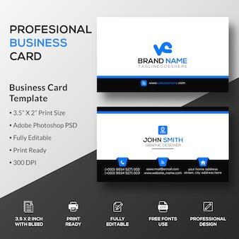 Plantilla de tarjeta de visita simple