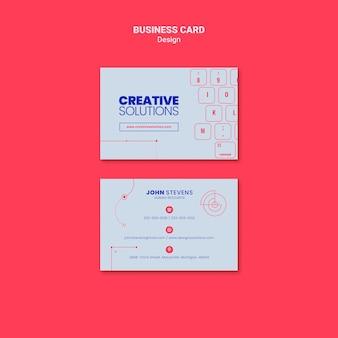 Plantilla de tarjeta de visita para soluciones empresariales creativas