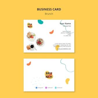 Plantilla de tarjeta de visita con tema de brunch