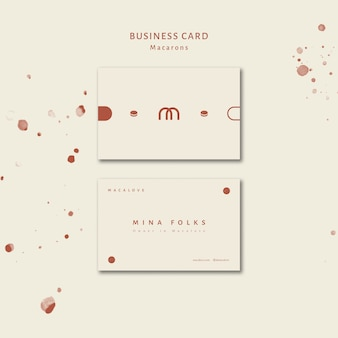Plantilla de tarjeta de visita de la tienda macarons