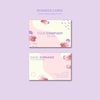 Plantilla de tarjetas de visita macarons