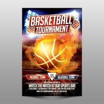 Plantilla de torneo de baloncesto