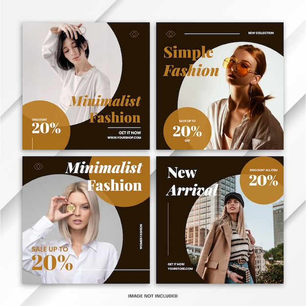 Plantilla de venta de moda post bundle de banner de instagram