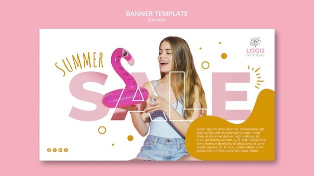 Plantilla de venta de verano con foto