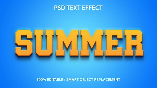 Plantilla de verano de efecto de texto