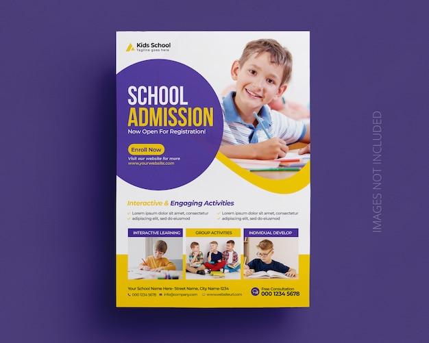 Plantilla de volante de admisión a la educación de regreso a la escuela
