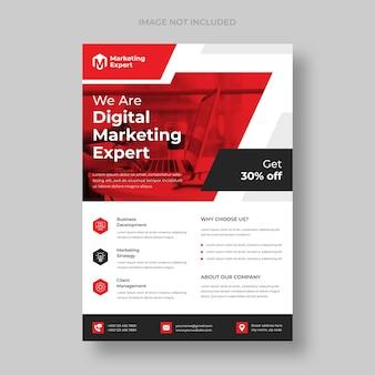 Plantilla de volante de agencia de marketing digital moderno