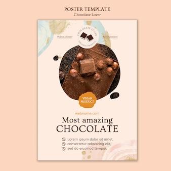 Plantilla de volante de amante del chocolate
