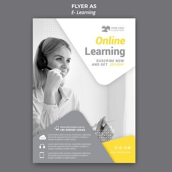 Plantilla de volante de aprendizaje electrónico
