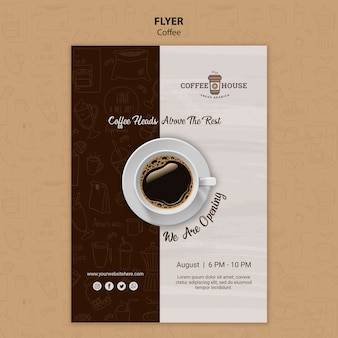 Plantilla de volante de cafetería