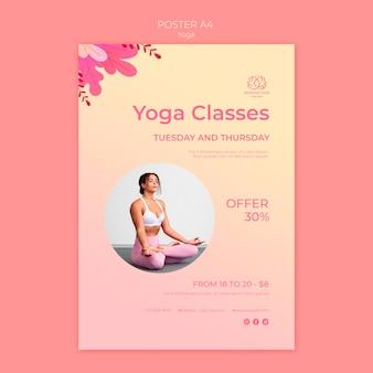 Plantilla de volante de clases de yoga