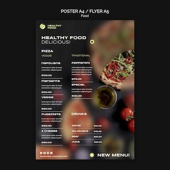 Plantilla de volante de comida saludable