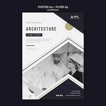 Plantilla de volante de concepto de arquitectura