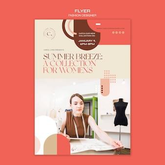 Plantilla de volante de concepto de diseñador de moda