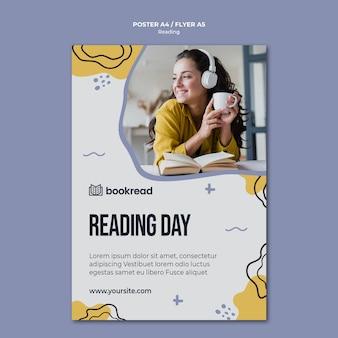 Plantilla de volante de concepto de lectura