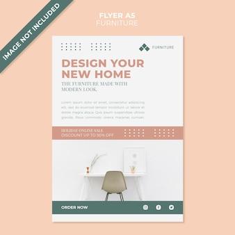 Plantilla de volante de concepto de muebles modernos