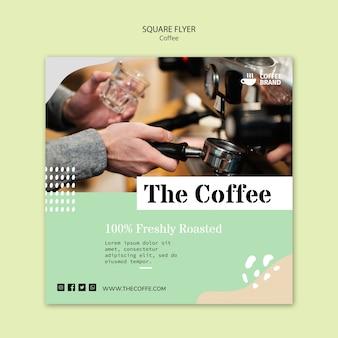 Plantilla de volante cuadrado café