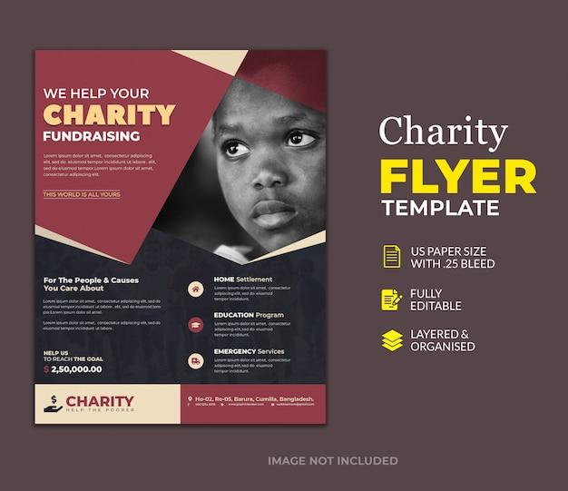 Plantilla de volante de donación de caridad