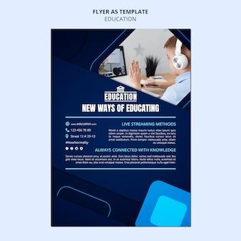 Plantilla de volante de educación en línea