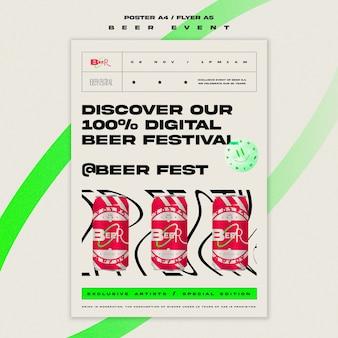 Plantilla de volante para festival de la cerveza