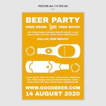 Plantilla de volante de fiesta de cerveza