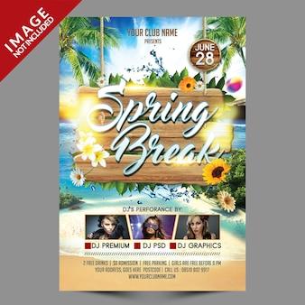 Plantilla de volante - fiesta de vacaciones de primavera