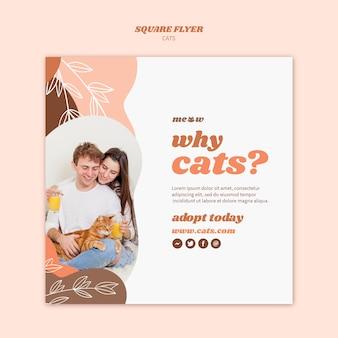 Plantilla de volante de gatos