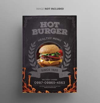 Plantilla de volante - hamburguesa