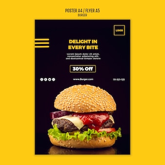 Plantilla de volante de hamburguesa