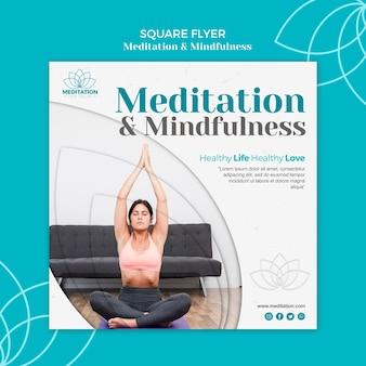 Plantilla de volante de meditación