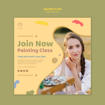 Plantilla de volante de pintura de clase
