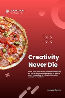 Plantilla de volante de pizza instagram psd
