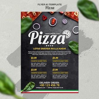 Plantilla de volante para pizzería italiana