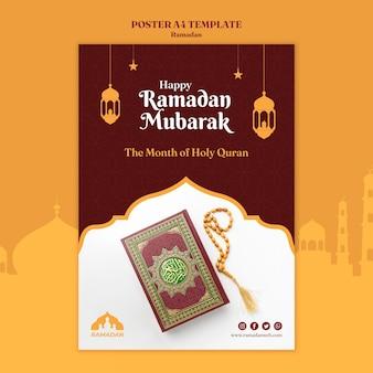 Plantilla de volante de ramadan kareem