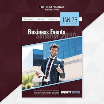 Plantilla de volante de seminario de eventos empresariales