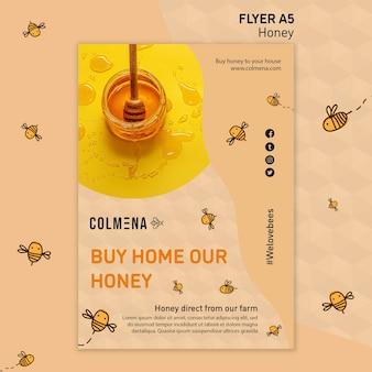 Plantilla de volante de tienda de miel