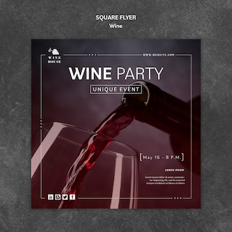 Plantilla de volante de vino