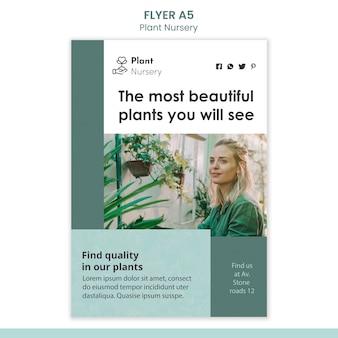 Plantilla de volante de vivero de plantas