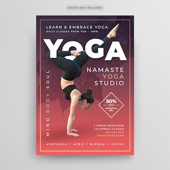 Plantilla de volante de yoga