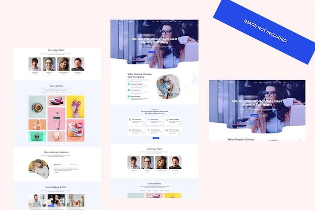 Plantilla web de agencia digital