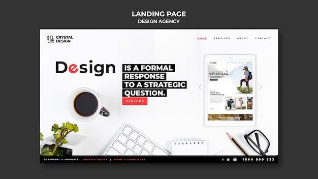 Plantilla web para agencia de diseño