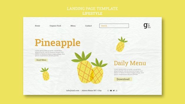 Plantilla web de alimentos orgánicos