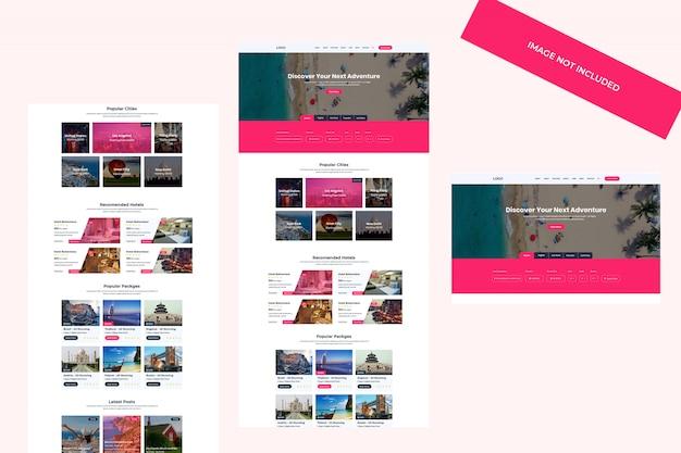 Plantilla web de aventura y viajes